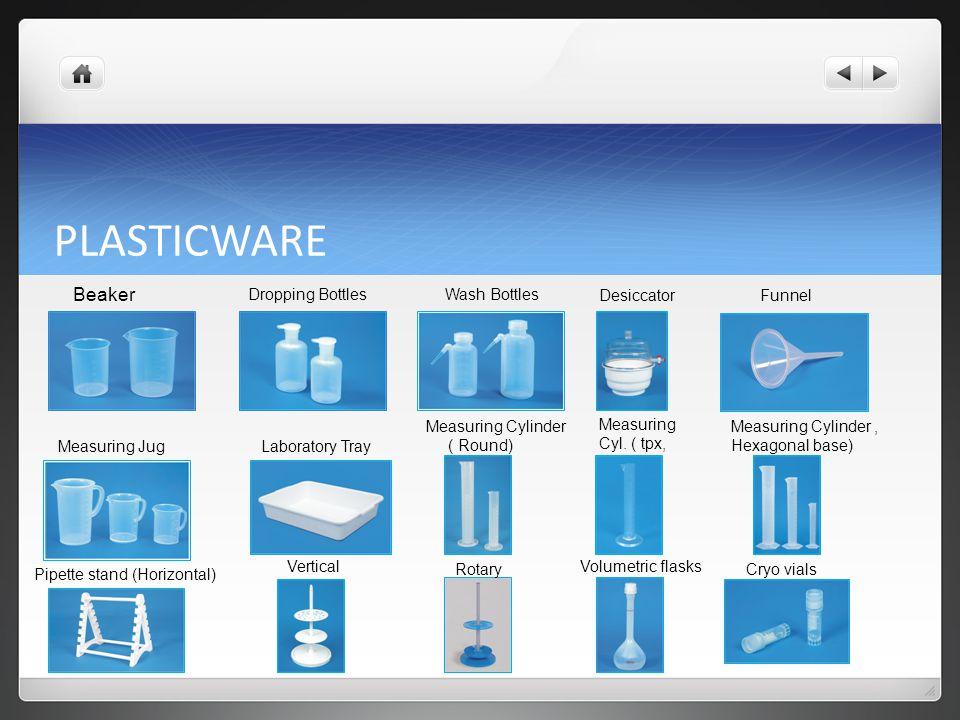 PLASTICWARE Beaker Dropping Bottles Wash Bottles Desiccator Funnel