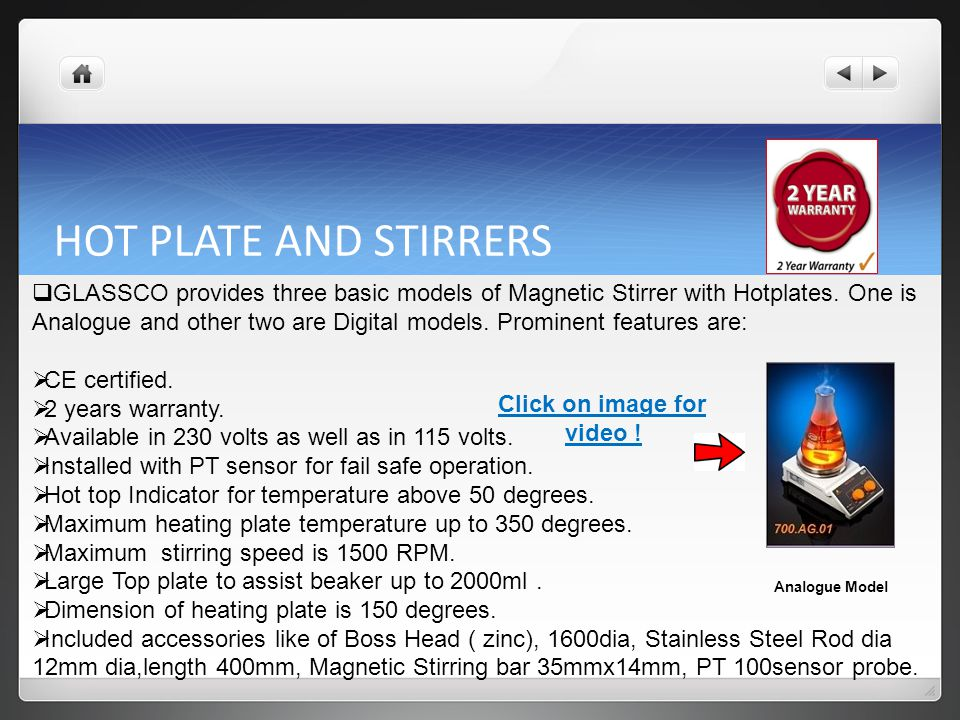 HOT PLATE AND STIRRERS
