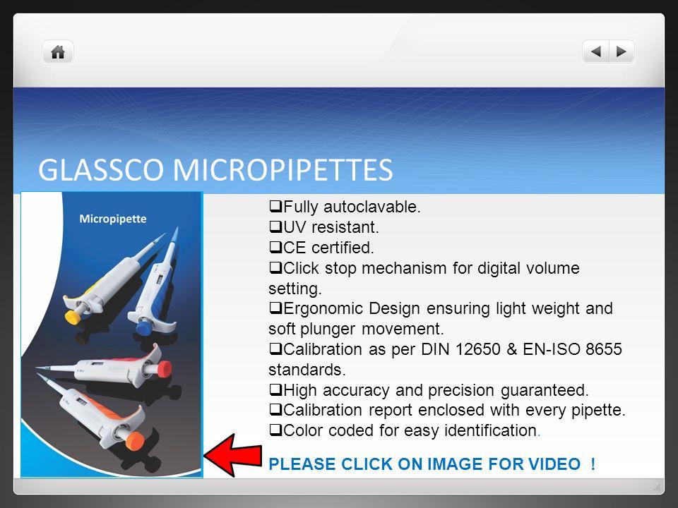 GLASSCO MICROPIPETTES