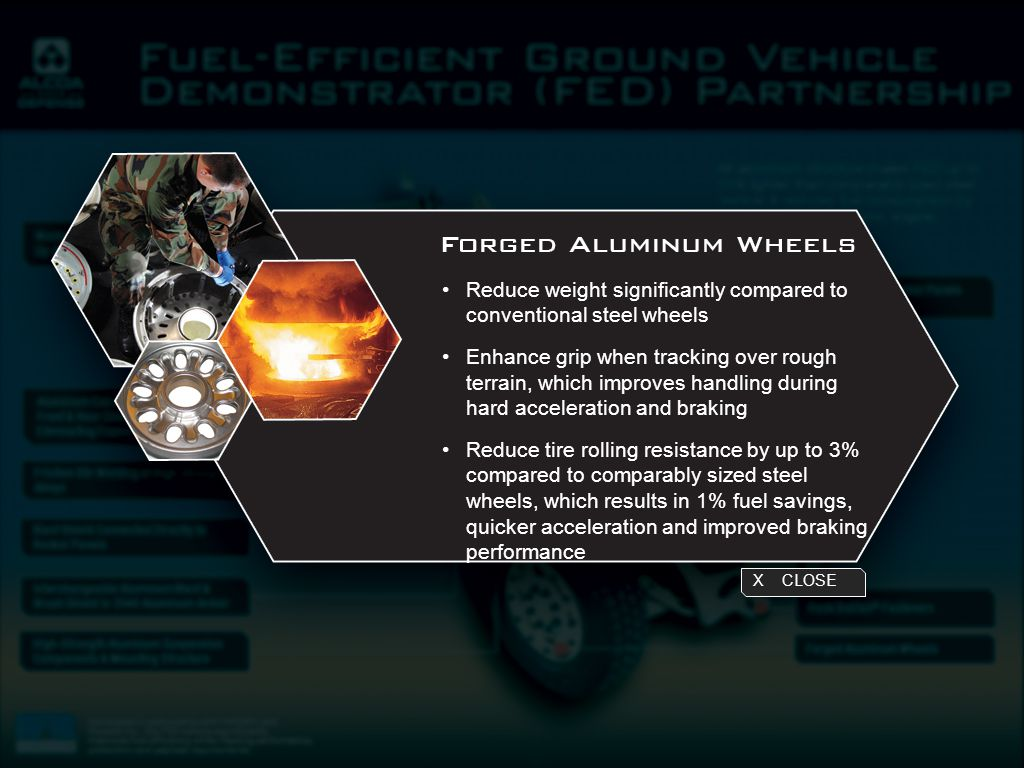 Reduce weight significantly compared to conventional steel wheels