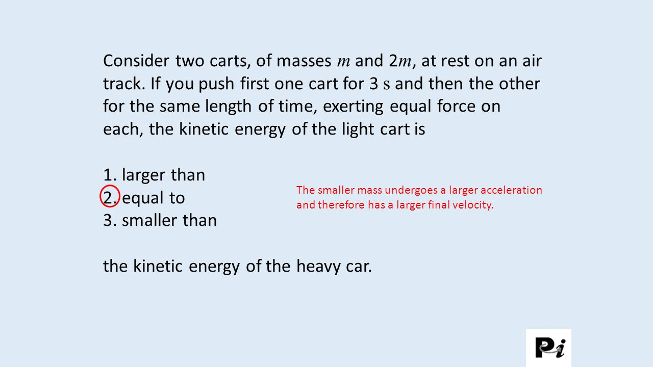 the kinetic energy of the heavy car.