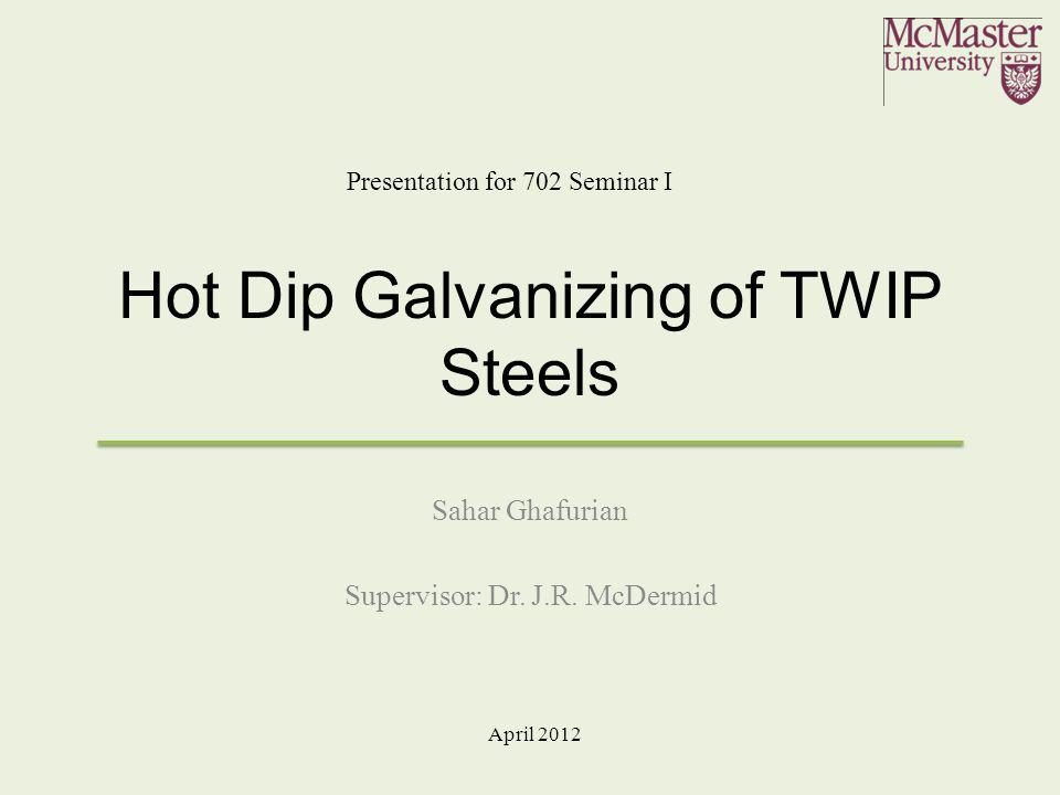 Hot Dip Galvanizing of TWIP Steels