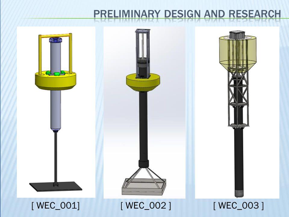 Preliminary design and research