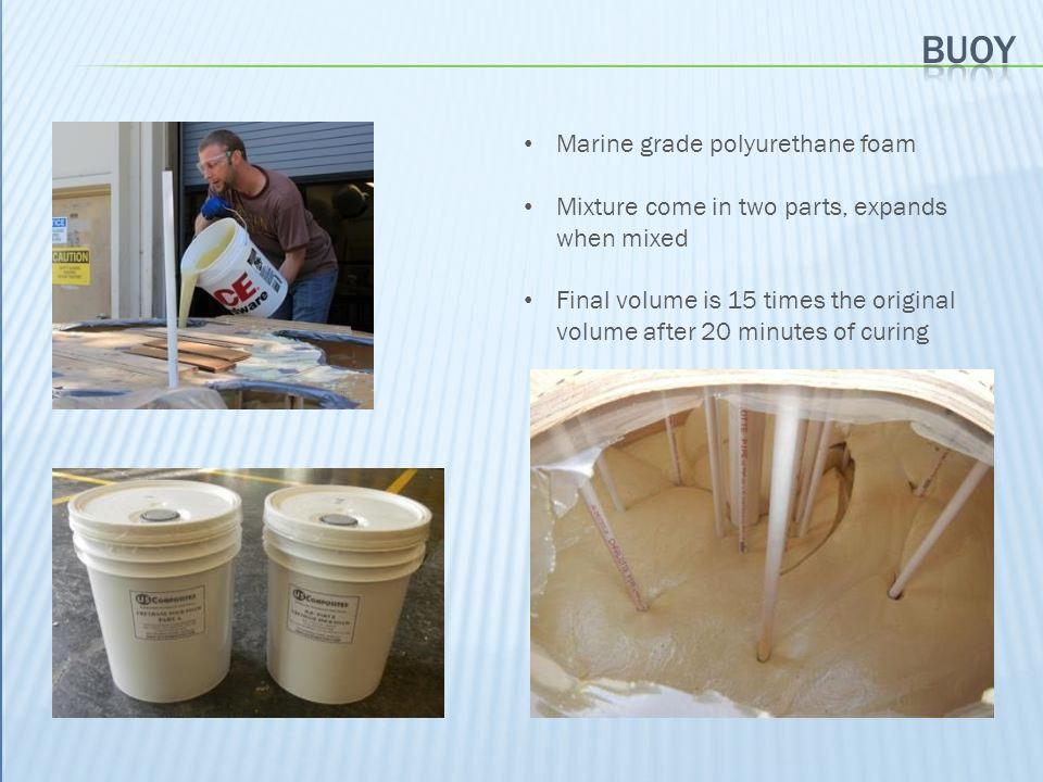 Buoy Marine grade polyurethane foam