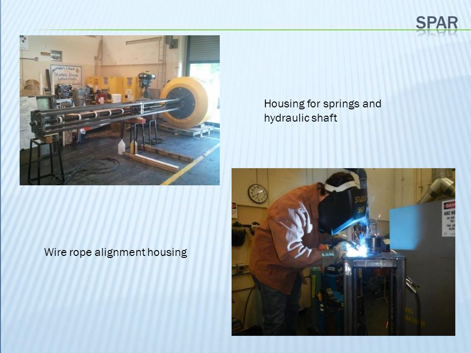 spar Housing for springs and hydraulic shaft