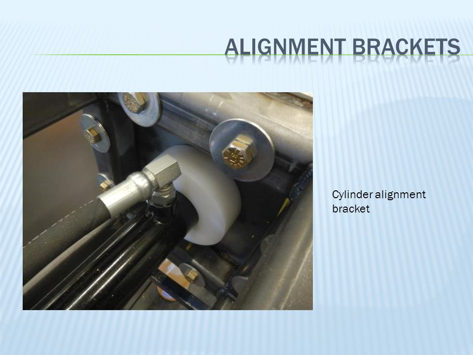 Alignment brackets Cylinder alignment bracket