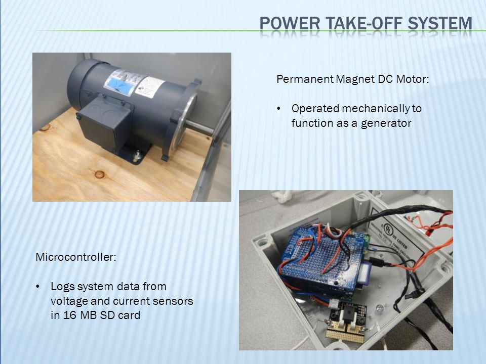 Power take-off system Permanent Magnet DC Motor: