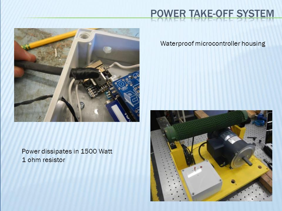 Power take-off system Waterproof microcontroller housing