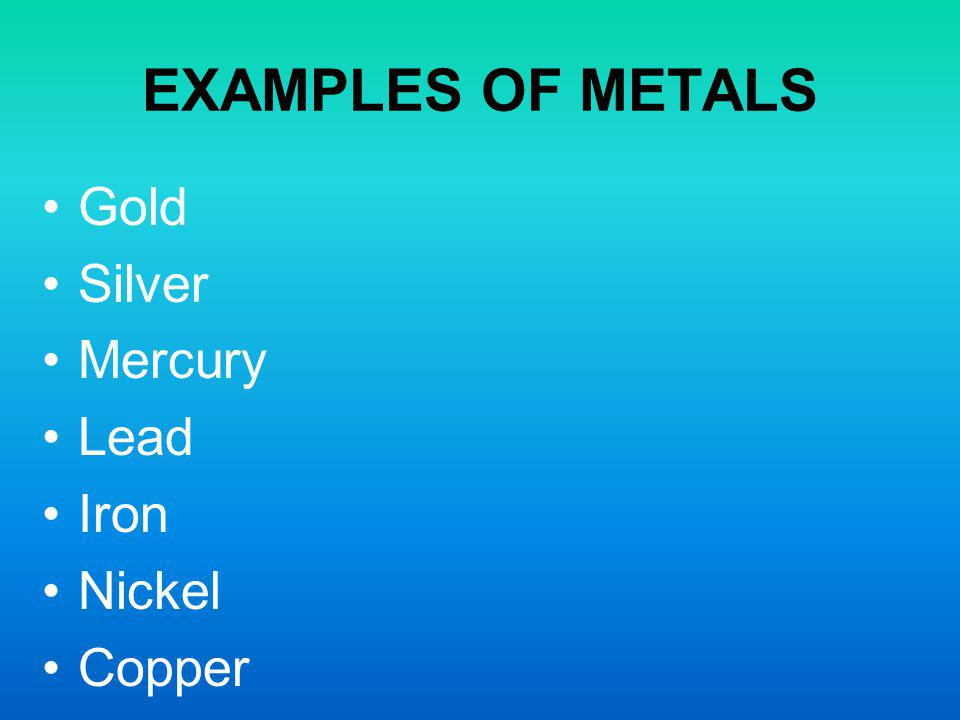 a description of mercury as a silvery liquid metal at room temperature Chemical elements list : symbols and names  mercury is a heavy silvery-white metal - the only metal that is liquid at room temperature and pressure.