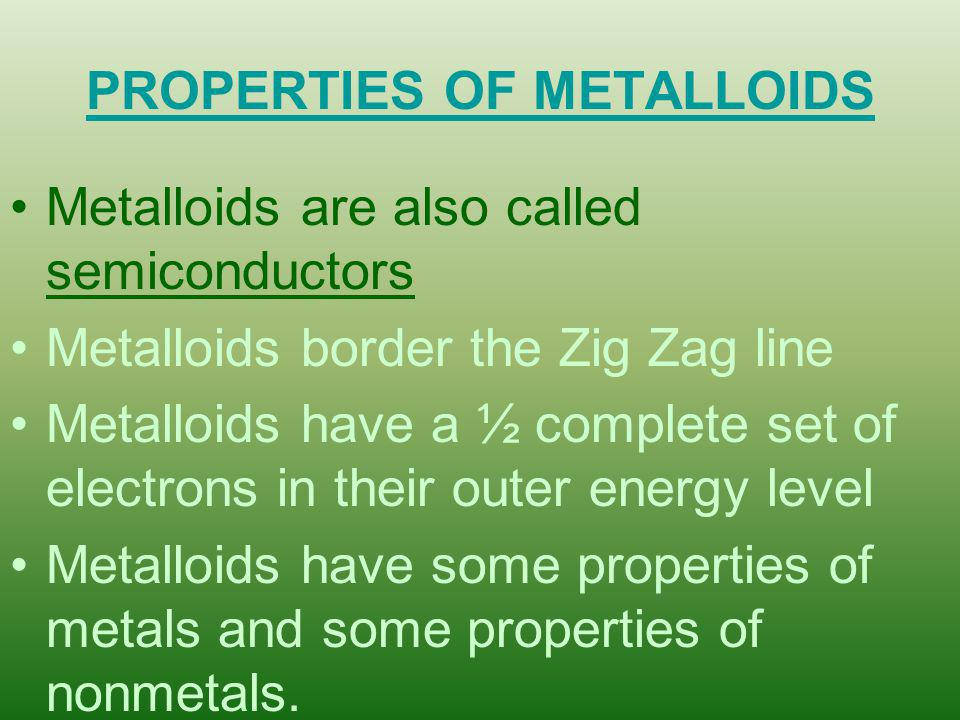 METALS, NONMETALS, METALLOIDS, & NOBLE GASES - ppt video ...