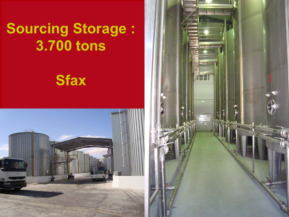 Sourcing Storage : 3.700 tons