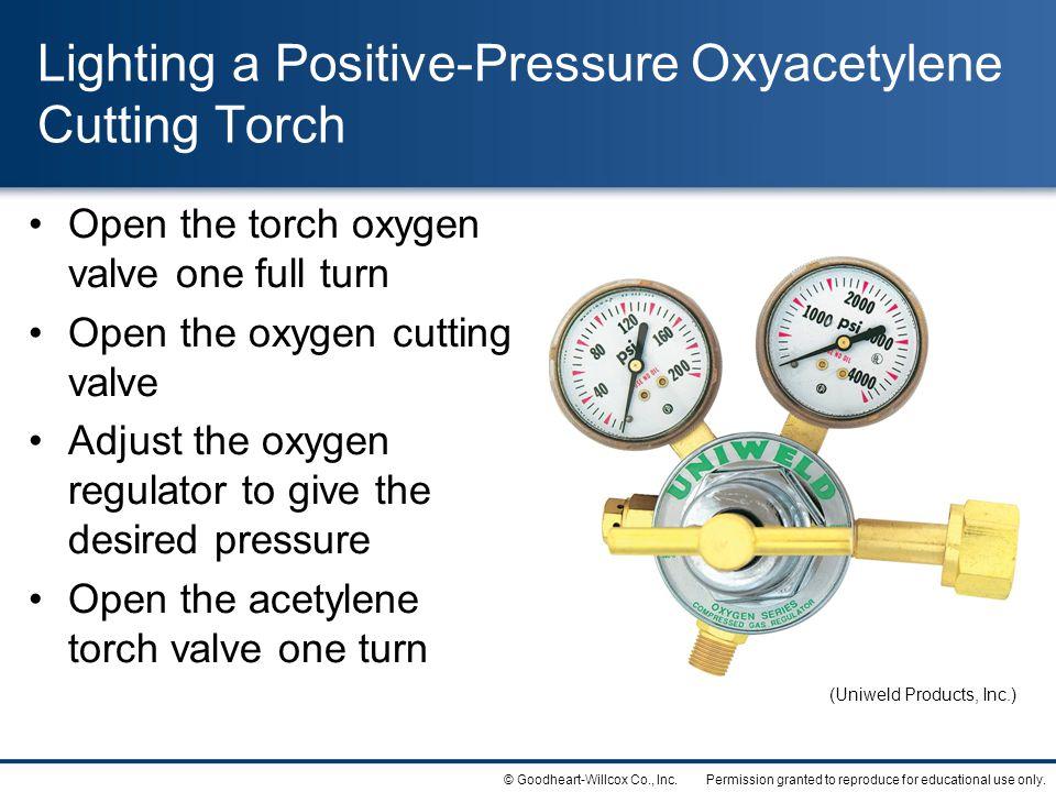 Lighting a Positive-Pressure Oxyacetylene Cutting Torch