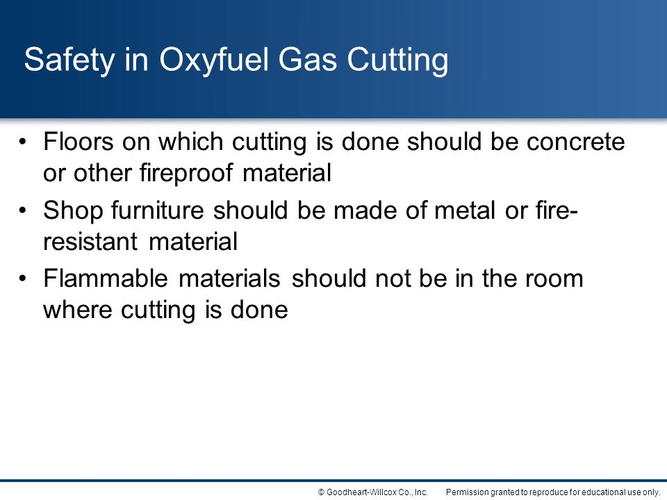 Safety in Oxyfuel Gas Cutting