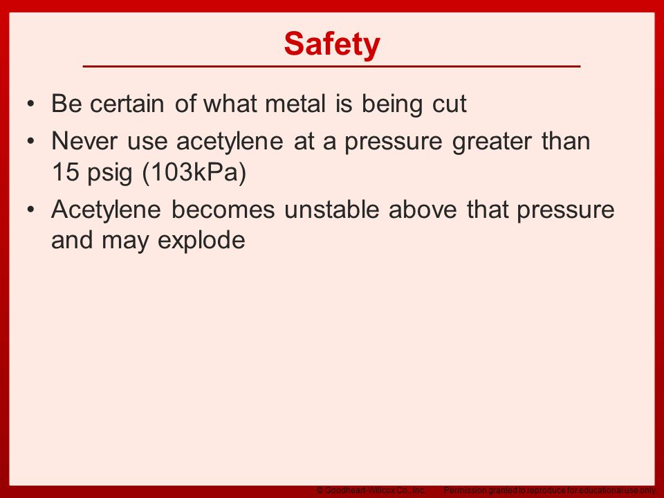 Safety Be certain of what metal is being cut