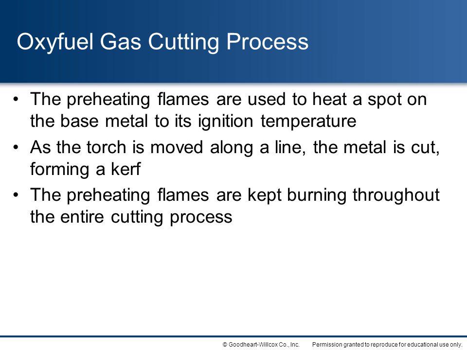 Oxyfuel Gas Cutting Process