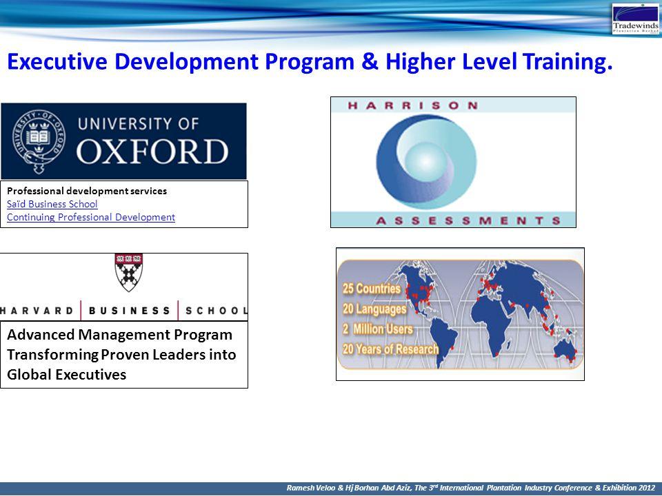 Executive Development Program & Higher Level Training.