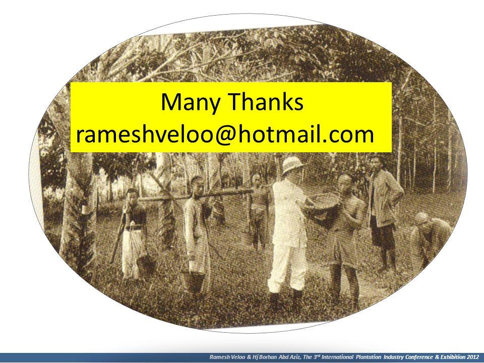 Many Thanks rameshveloo@hotmail.com
