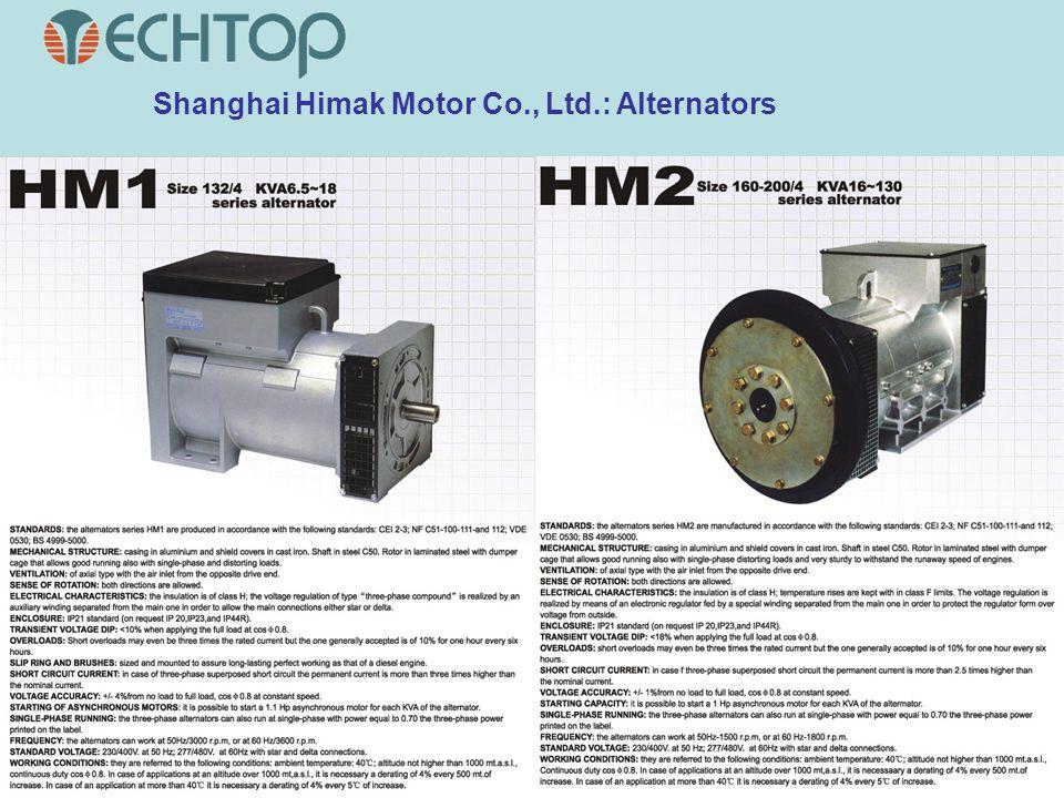 Shanghai Himak Motor Co., Ltd.: Alternators