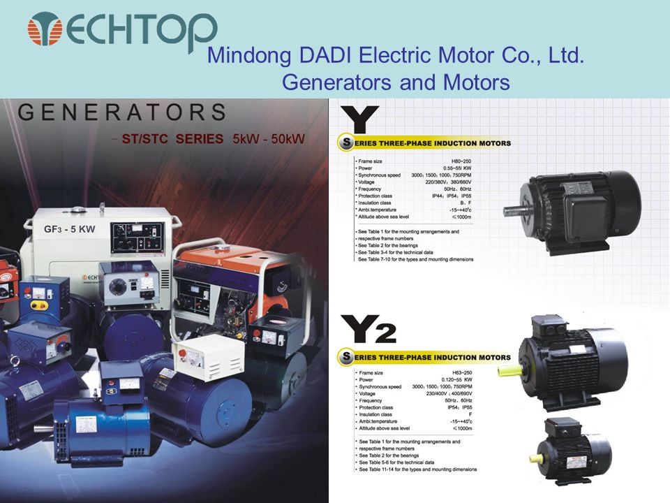 Mindong DADI Electric Motor Co., Ltd. Generators and Motors
