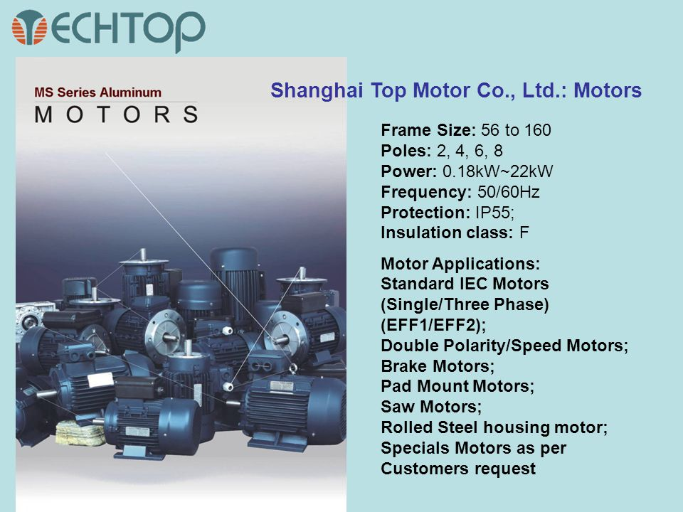Shanghai Top Motor Co., Ltd.: Motors