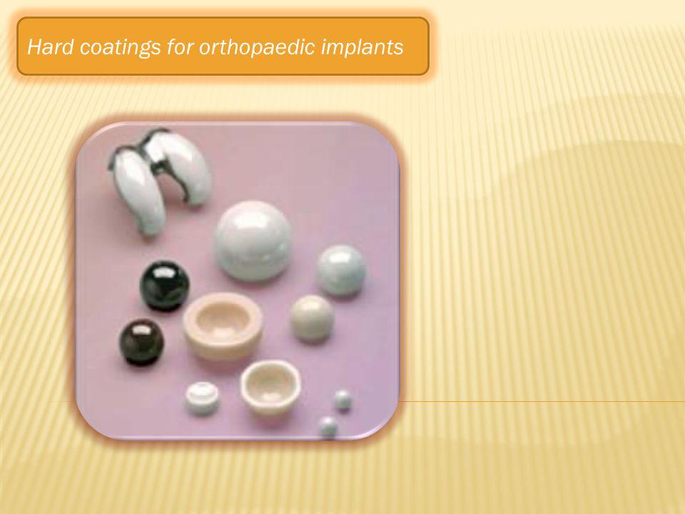 Hard coatings for orthopaedic implants