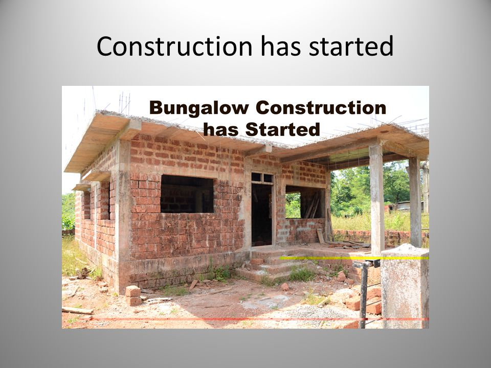 Construction has started