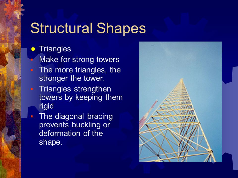 Structural Shapes Triangles Make for strong towers