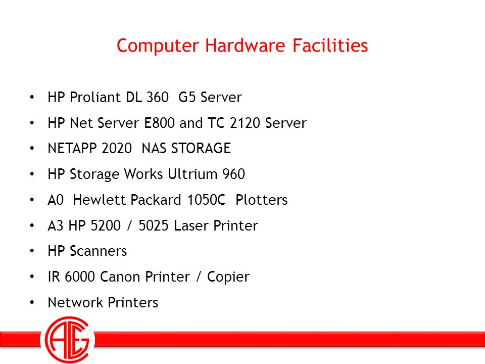 Computer Hardware Facilities