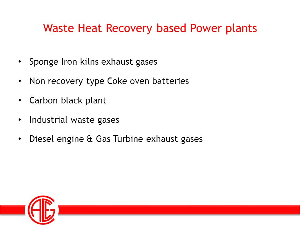 Waste Heat Recovery based Power plants