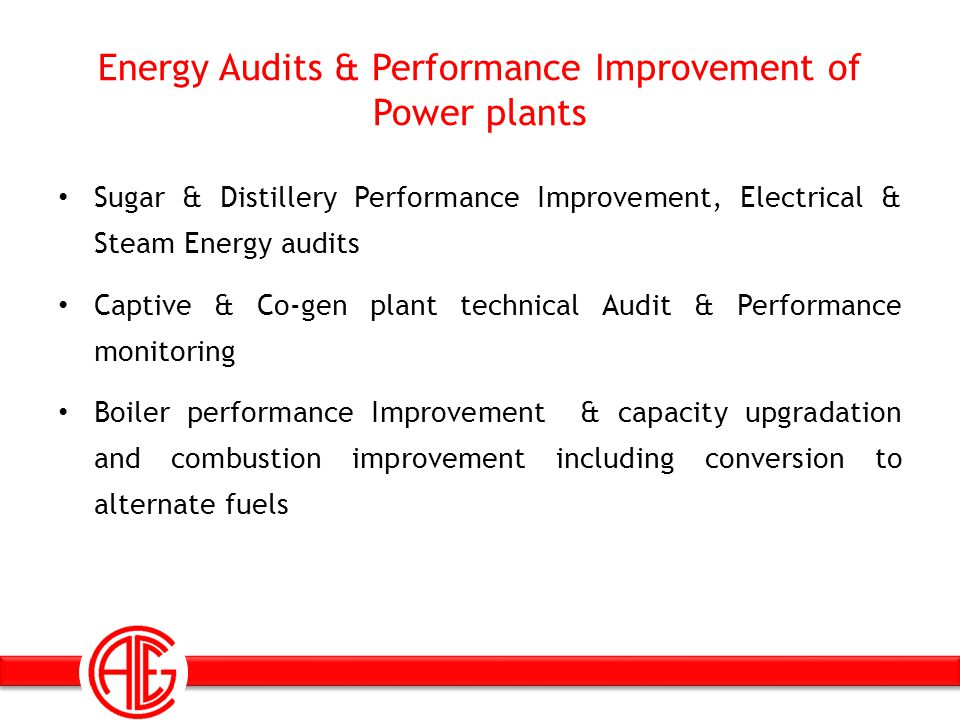 Energy Audits & Performance Improvement of Power plants