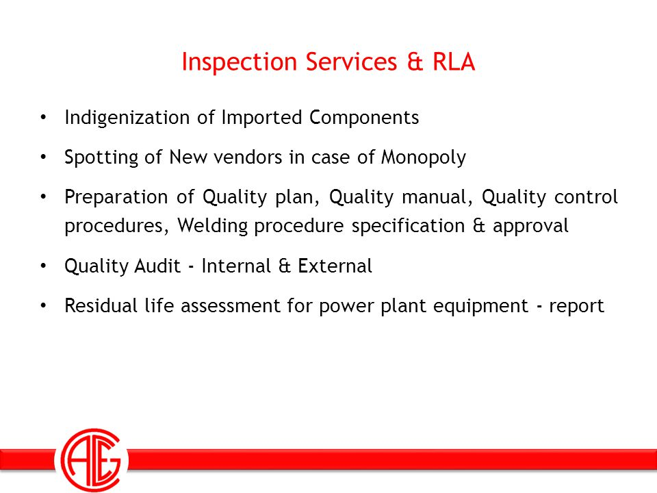Inspection Services & RLA