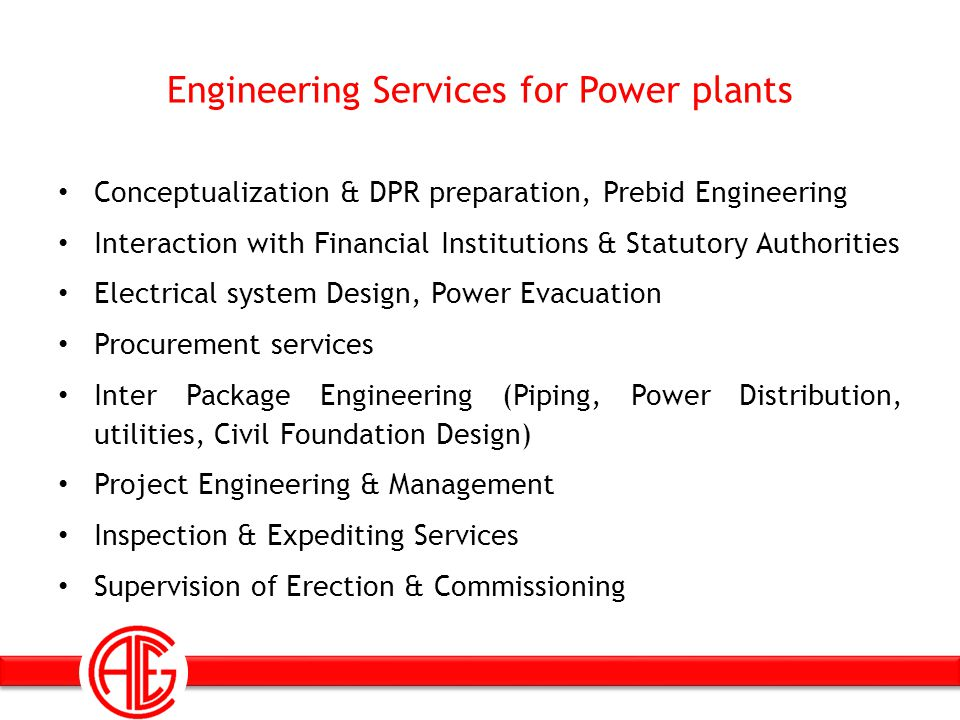 Engineering Services for Power plants