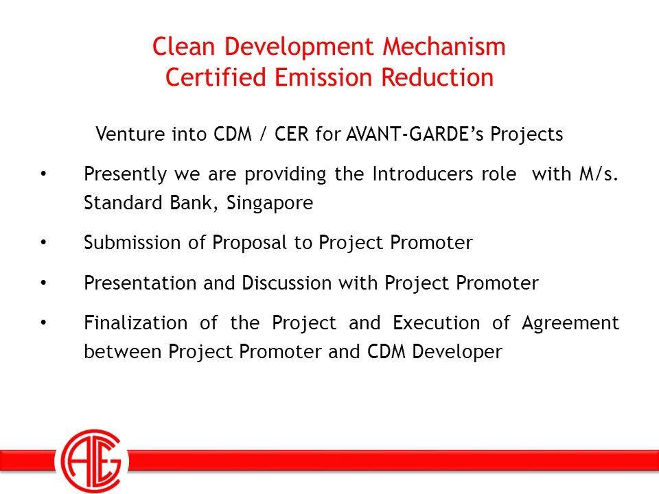 Clean Development Mechanism Certified Emission Reduction