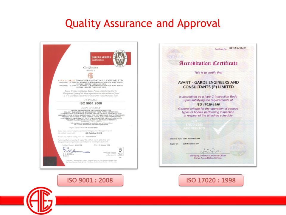 Quality Assurance and Approval