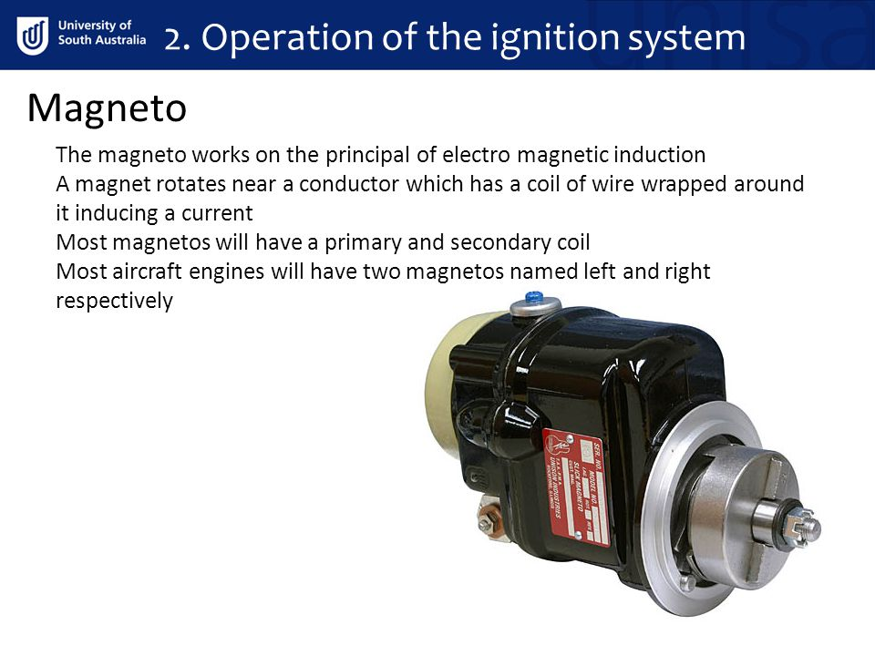 2. Operation of the ignition system