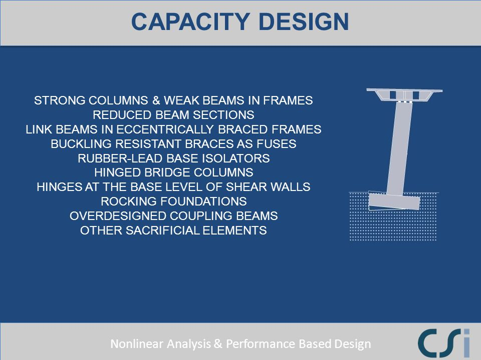 CAPACITY DESIGN STRONG COLUMNS & WEAK BEAMS IN FRAMES