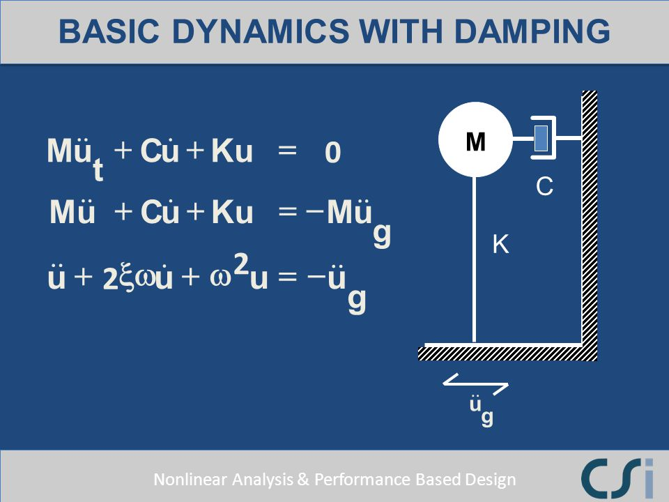 BASIC DYNAMICS WITH DAMPING