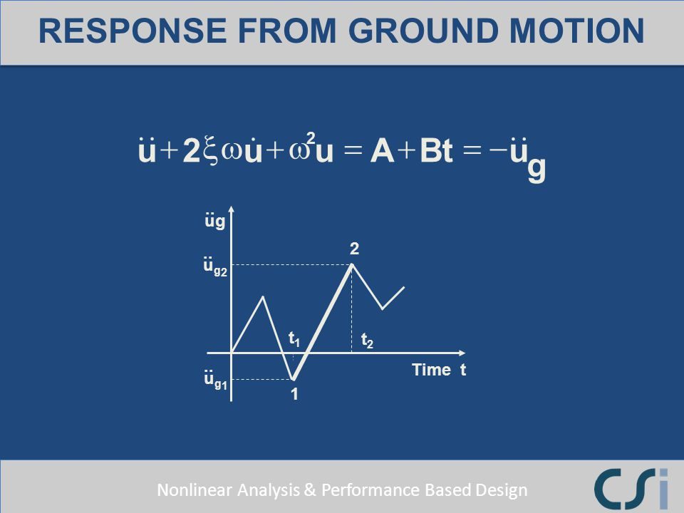 RESPONSE FROM GROUND MOTION