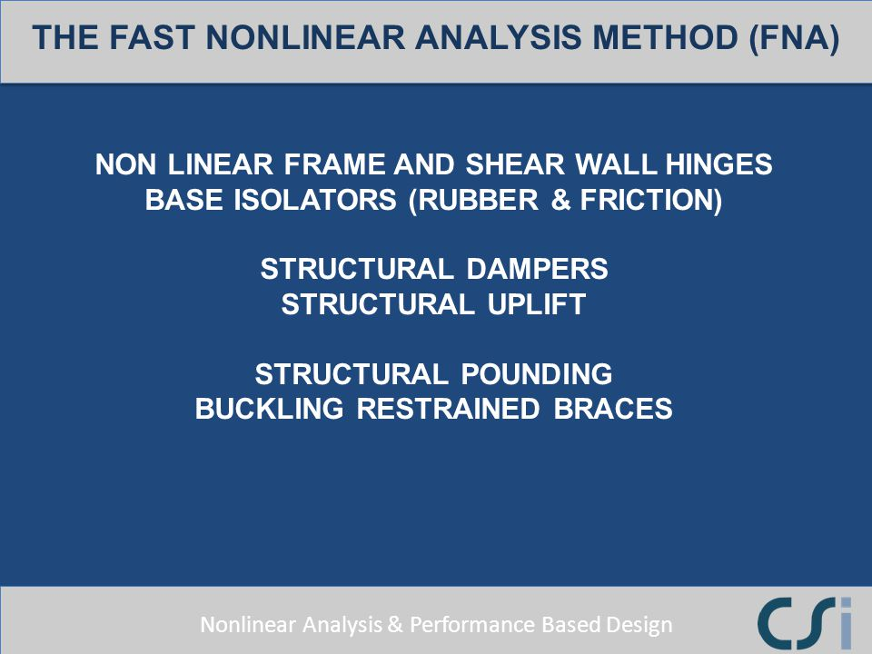 THE FAST NONLINEAR ANALYSIS METHOD (FNA)