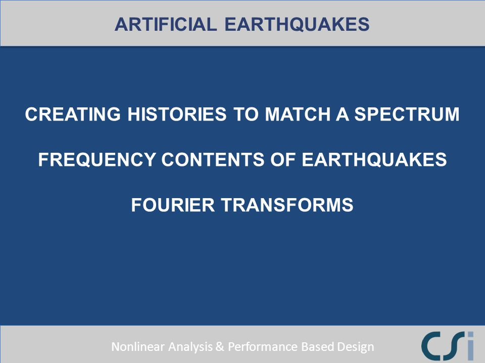 ARTIFICIAL EARTHQUAKES