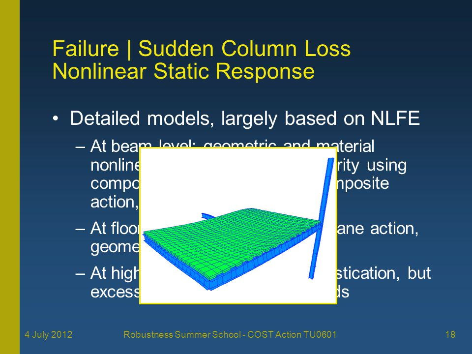 Failure | Sudden Column Loss Nonlinear Static Response