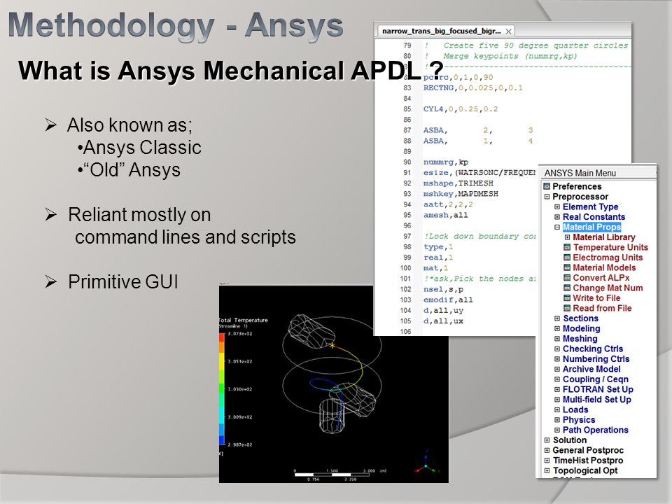 Methodology - Ansys What is Ansys Mechanical APDL Also known as;