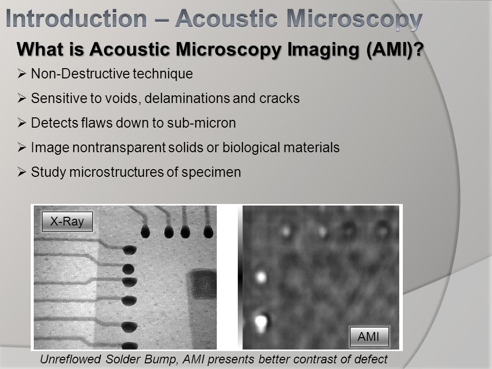 Introduction – Acoustic Microscopy