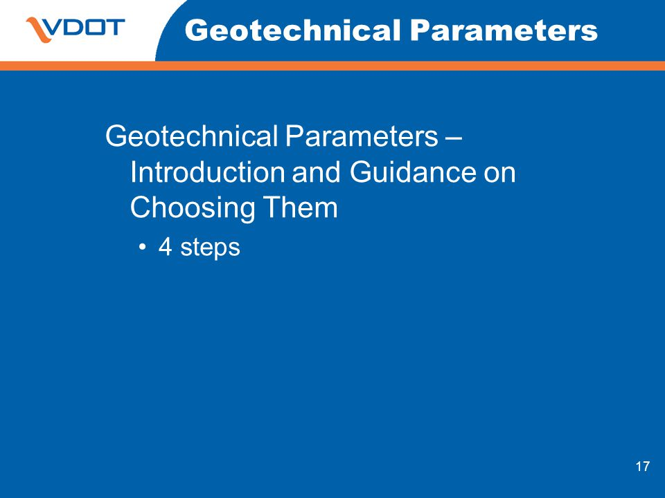Geotechnical Parameters