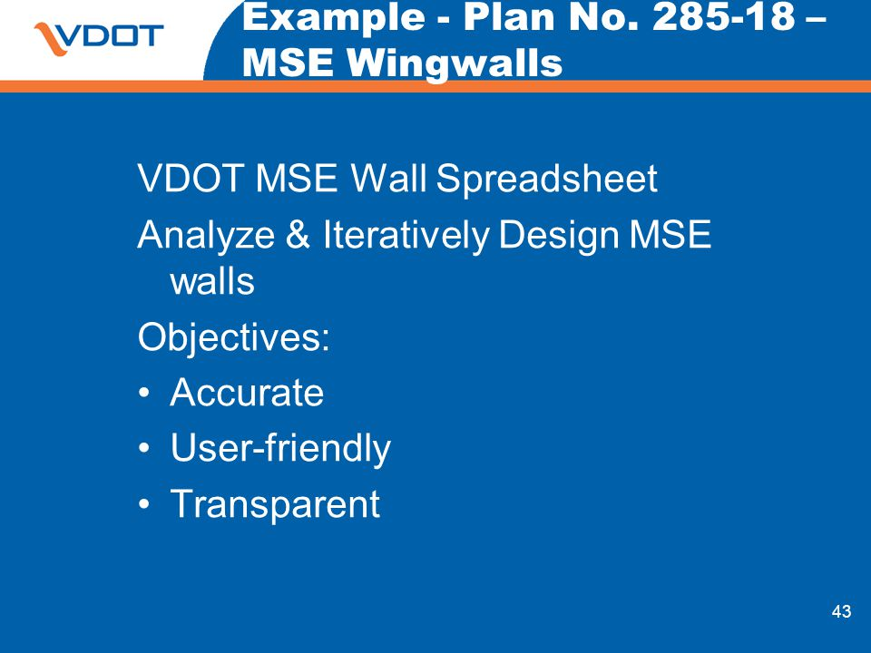 Example - Plan No – MSE Wingwalls