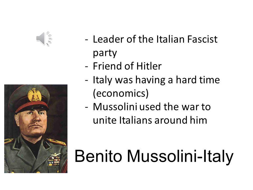 Benito Mussolini-Italy
