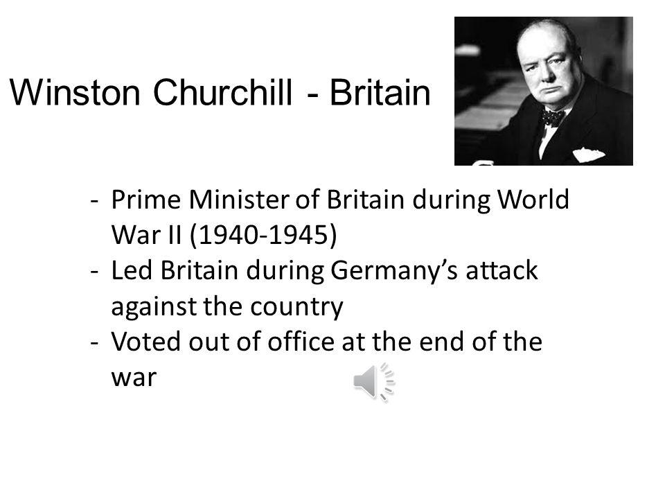 Winston Churchill - Britain