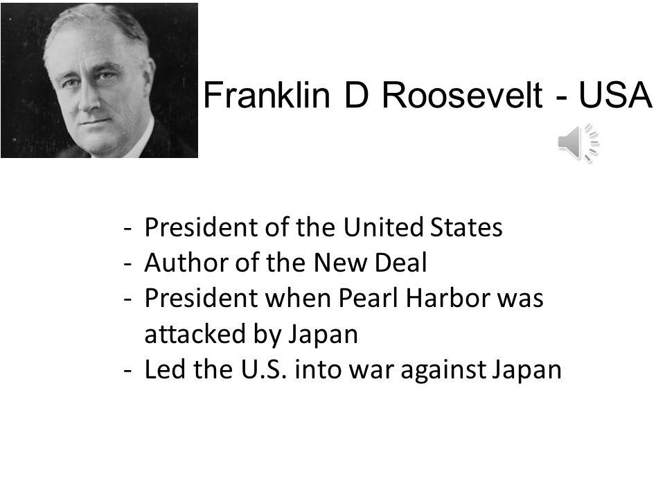 Franklin D Roosevelt - USA