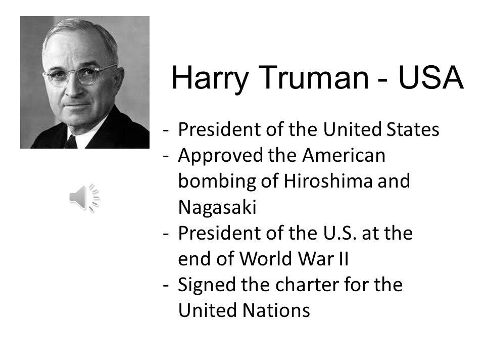 Harry Truman - USA President of the United States