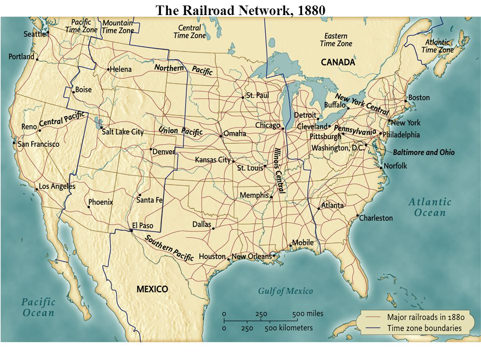 The Railroad Network, 1880 • pg. 596